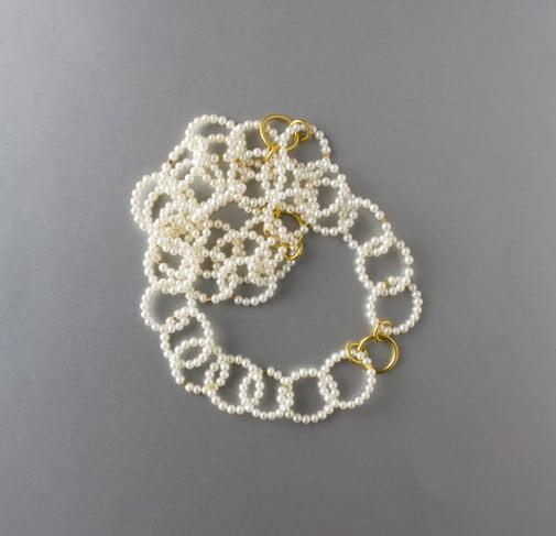 Halsband med guld och pärlor, Maria Elmqvist